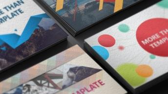 欧美杂志排版简洁高端实用PPT模板(9-12合集)