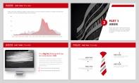 【经典商务】红色图表项目企业公司策划PPT模板示例4