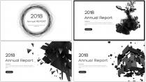 创意灰黑大气总结报告商务汇报模板合集【含四套】