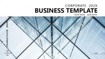 【文山书海B】极简高端大气蓝色商务工作总结项目报告