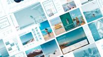 宅寂系列80:旅行度假清新简约海洋风画册汇报总结