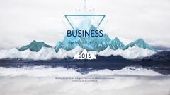 【动态】创意蓝色冰山商务工作总结工作计划