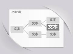 简洁灰白贴纸文化Keynote模板示例6