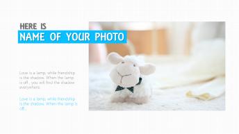 【简洁】可爱简约呆萌小清新照片展示模板示例3