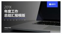 【精致视觉23】蓝色商务风工作总结汇报模版