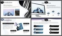 【解构都市】天蓝深色系年终报告杂志风模板示例3
