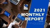 【办公】蓝色欧美项目述职计划总结报告