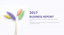【小清新】简约商务通用报告模板-14 紫色