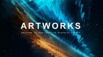 【抽象艺术】简约商务工作计划总结通用模板