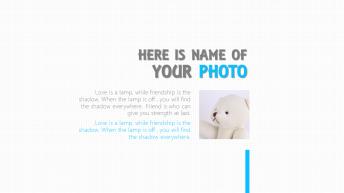 【简洁】可爱简约呆萌小清新照片展示模板示例2