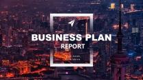 【灰藍簡潔】現代城市風格商務年終報告2示例2