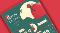 【复古】小清新圣诞简约报告PPT模板