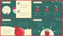 【复古】小清新圣诞简约报告PPT模板示例4