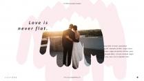 晕染浪漫婚礼纪念册结婚旅游画册PPT