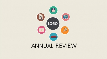 动态彩色扁平化商务工作汇报模板(赠icon)示例2