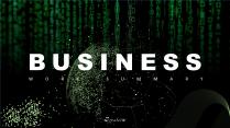 【極簡商務】黑綠工作總結匯報通用模板16