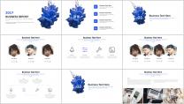 【水墨系列】清新简约商务通用报告模板-07|蓝色示例3