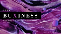 【抽象派】艺术紫罗兰酷炫模板3示例3