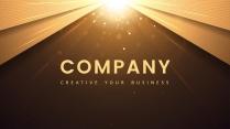 【现代简约】金色年终创意商务汇报工作计划模板