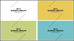 【带教程及四套配色】动态简约大气商务报告模板