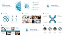 【几何艺术】清新简约商务通用报告模板-05|蓝色示例3