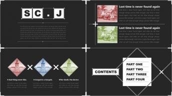 【另类极简】北欧风格图文+信息图表汇报/推介PPT示例4