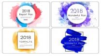 【創意水墨】現代商務匯報工作計劃模板(含四套)