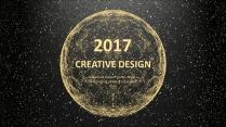 金色年终总结商务报告工作计划项目策划模板系列六