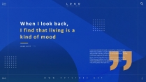 【杂志风商务汇报模板29】轻奢蓝色和金色 高端大气示例2