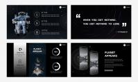 「宝藏系列」太空创意科技风汇报模板示例6