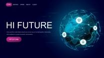 万物互联科技互联网物联网云计算公司企业PPT