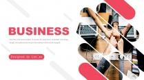 红色商务企业文化总结报告模板