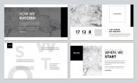 【拟态】大理石上的杂志风PPT模板示例4