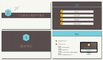 【无动画版】实用商务模板-含25套数据图