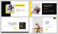 【简约商务】黄色欧美工作汇报杂志风PPT模板示例3