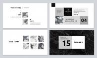 【拟态】大理石上的杂志风PPT模板示例7