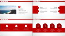 大气简约红白企业公司品牌推介PPT模板示例3