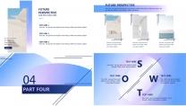 【漸變藍】簡約大氣商務計劃年終匯報雜志畫冊示例6
