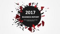 创意红黑总结报告工作计划商务策划模板01