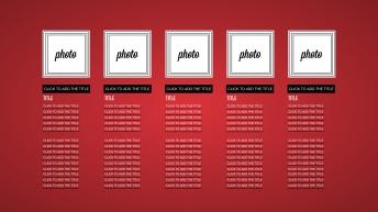 红色简洁商务keynote模版示例4