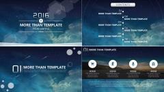 【动态】IOS+微立体风格大气高端策划总结汇报模版
