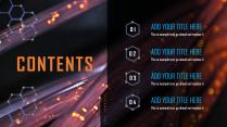 【橙蓝炫光】创意未来科技产品商业计划书示例3
