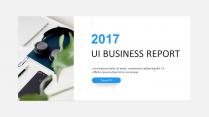 【UI风格 第1弹】简约清新通用商务报告模板 蓝色