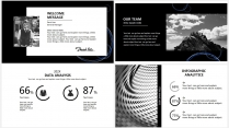 【藍黑科技】極簡大氣商務報告年終匯報項目總結提案示例5