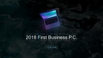 【黑色商務】簡潔深色商務科技報告模板 01