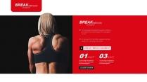 时尚运动健身PPT模板示例7