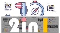 【2in1系列】日系配色清新创意数据分析模板