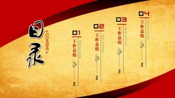 全手工,可修改中国风牛皮纸年终报告模板—(宽屏版)