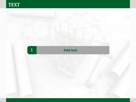 简洁绿色环保建筑绘图ppt模板