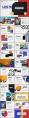 【紅黃藍】蒙德里安撞色商務示例6